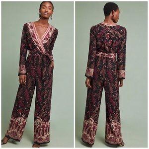 Anthropologie Breezeway Embroidered Jumpsuit